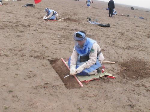 地雷処理訓練